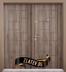 Двукрила входна врата T-100 цвят Спарта