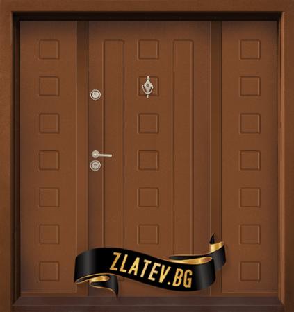 Двукрила входна врата T-712 - Златен Дъб