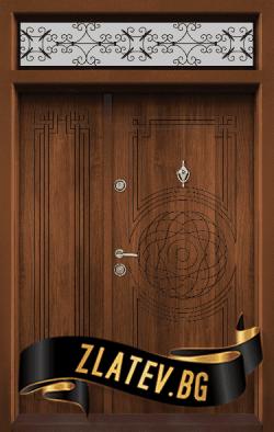Еднокрила входна врата T-110 - Цвят Златен Дъб