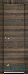 Алуминиева врата за баня Sil Lux, цвят Райски орех